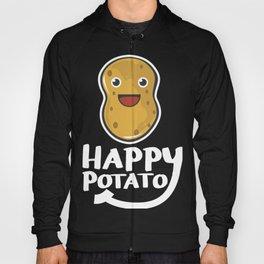 Happy Potato Funny Slogan graphic Hoody