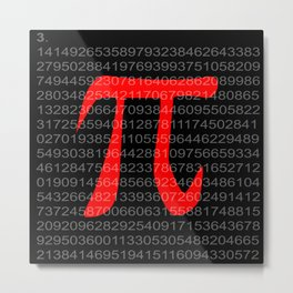 The Constant Pi Metal Print