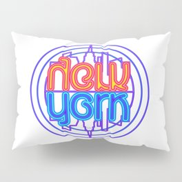"""Neon New York"" Lakeview Mirror Image Pillow Sham"