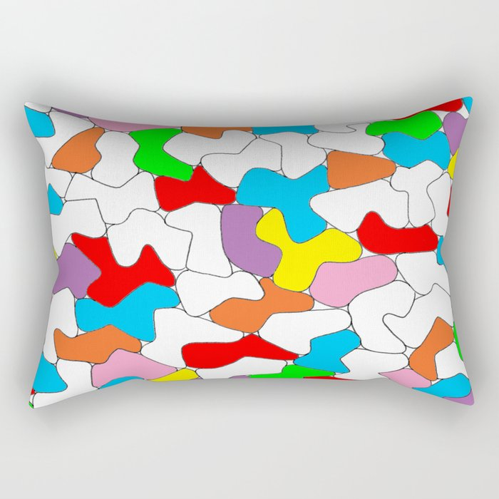 Multi-colored Shapes  Rectangular Pillow