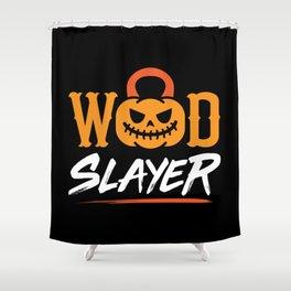 WOD Slay er Pumpkin Shower Curtain