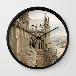 Lost in a Gotic cathedral Wall Clock
