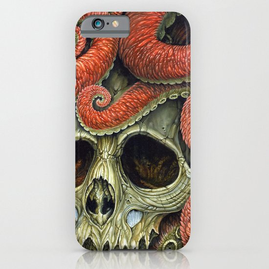 orange tentacles skull iPhone & iPod Case
