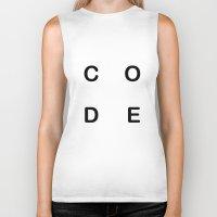code Biker Tanks featuring Code by siti fadillah