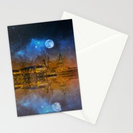 Dresden At Night Stationery Cards