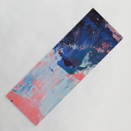 Mixtapes and Bubblegum: a colorful abstract piece in pinks and blues by Alyssa Hamilton Art Yoga Mat