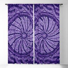 Ultra Violet Stone Tiles 18-3838 Blackout Curtain