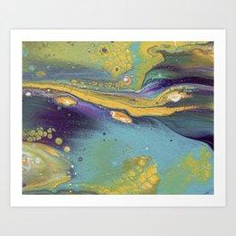 Jewel Tone Pour Art Print