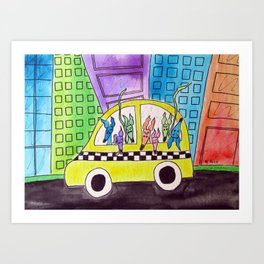 Hounds in the City Art Print