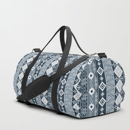 Colorful Aztec pattern with dirty blue. Duffle Bag