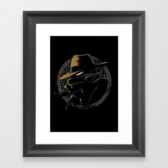 Undercover Ninja Leo Framed Art Print