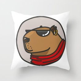 CapyBanda Throw Pillow