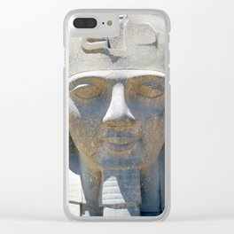 Head of Ramesses II, Luxor temple, Egypt Clear iPhone Case