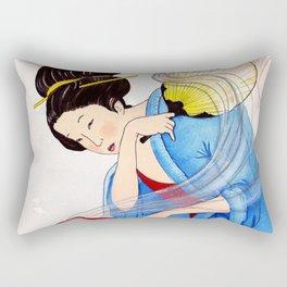 Mrs Hokusai Burns The Toast Rectangular Pillow