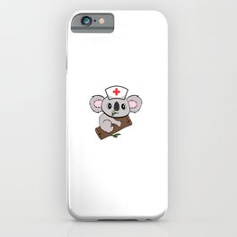 """Don't Worry I' A Koalafied Nurse"" Hospital Nice Marriage Shirt For Doctors T-shirt Design Syringe iPhone Case"