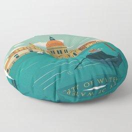 Vintage poster - Venice Floor Pillow