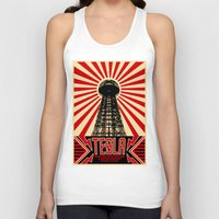 tesla Tank Tops featuring Tesla by Octavia Soldani