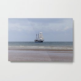 English Channel Tall Ship Metal Print