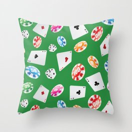 #casino #games #accessories #pattern 4 Throw Pillow