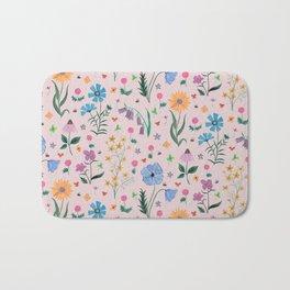 Spring Garden Tossed Pattern Bath Mat