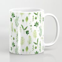 leaves Mugs featuring Leaves by Vicky Webb