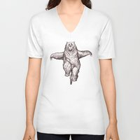 balance V-neck T-shirts featuring Balance by Dave Mottram