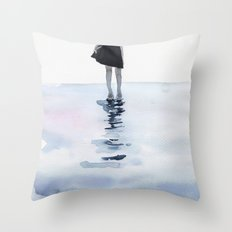 all around the sea Throw Pillow