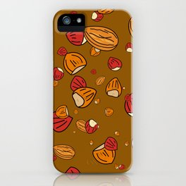 Nutty about Nuts iPhone Case