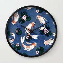 Japanese carps Wall Clock