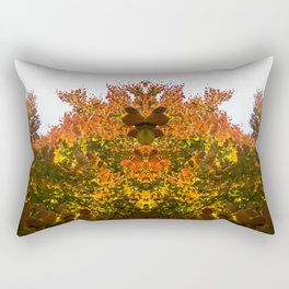 Sunny Autumn Leaves Fall Vibes Rectangular Pillow