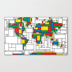 World Map - Modern Canvas Print