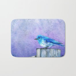 Bluebird Bliss Bath Mat