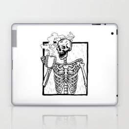 Skeleton Drinking a Cup of Coffee Laptop & iPad Skin