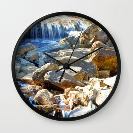 Lower Falls,north carolina,NC,water,falls,rocks,river,nature,blue ridge parkway,landscapes,landscape Wall Clock