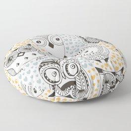 Owls Being Owls Floor Pillow