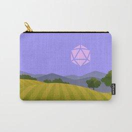 Purple Blue Hour Sunset D20 Dice Sun Tabletop RPG Landscapes Carry-All Pouch