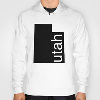 utah Hoodies featuring Utah by Isabel Moreno-Garcia