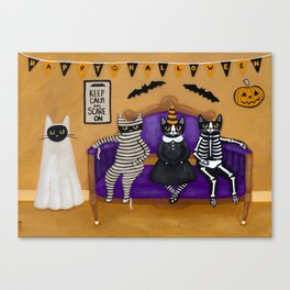 The Halloween Party Canvas Print