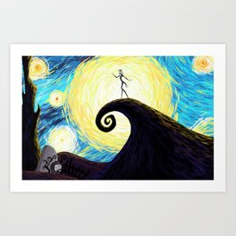 Starry Nightmare Art Print