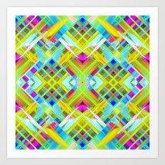 Colorful digital art splashing G471 Art Print