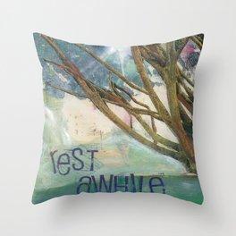 Rest Awhile Throw Pillow