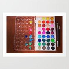 let's make art 2 Art Print