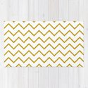 Gold glitter chevron on white - Luxury pattern by betterhome