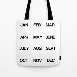 Calendar Tote Bag