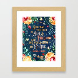 Ash & Fire Framed Art Print
