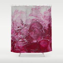 Magenta Love, abstract acrylic fluid painting Shower Curtain