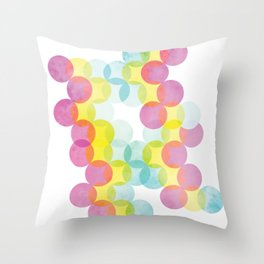Rainbow Geometric Print Throw Pillow