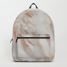 Civezza rose gold marble quartz Backpack