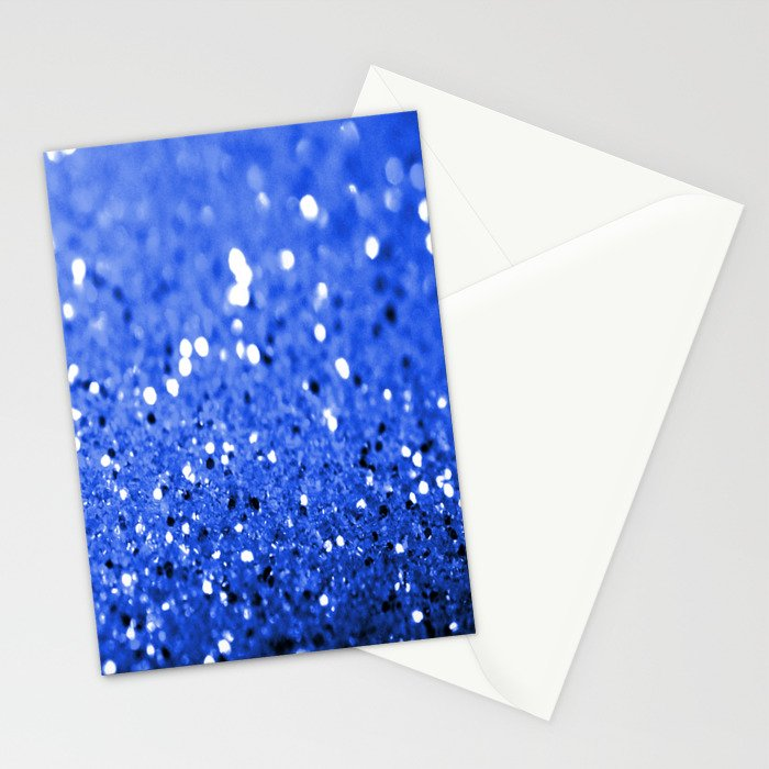 Glitter Blue Stationery Cards