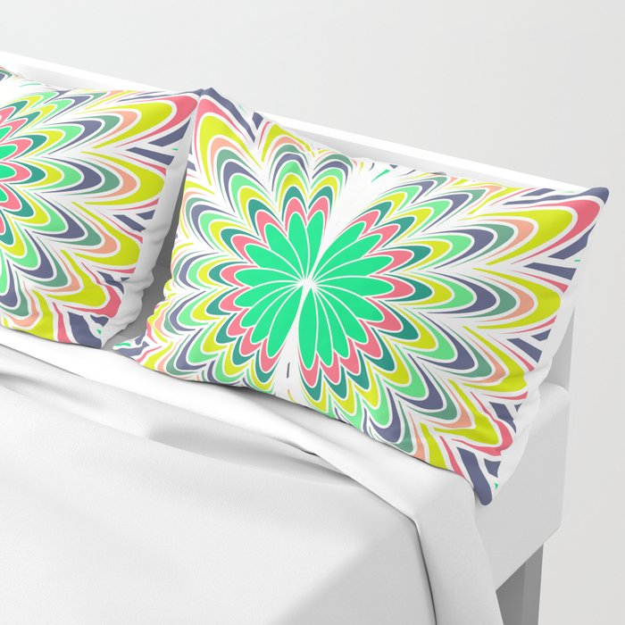 Floral burst Pillow Sham